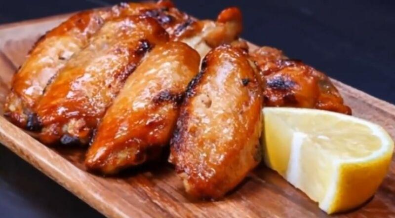 Куриные крылышки барбекю в духовке - лучший рецепт с фото приготовления