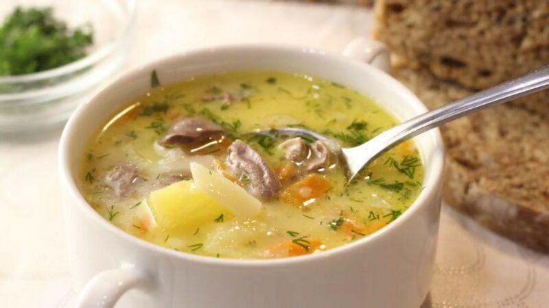 Суп из куриных сердечек — очень вкусный и простой рецепт