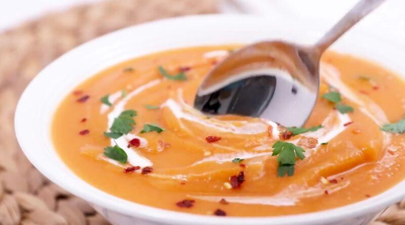 Классический рецепт приготовления острого супа-пюре из тыквы