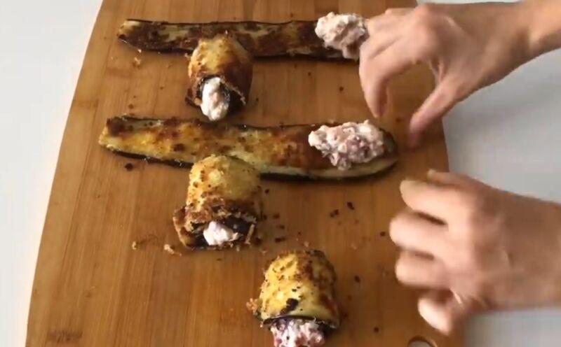 Закуски из баклажанов - рулетики